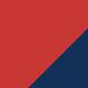 trimColor swatch: Red with Navy trim